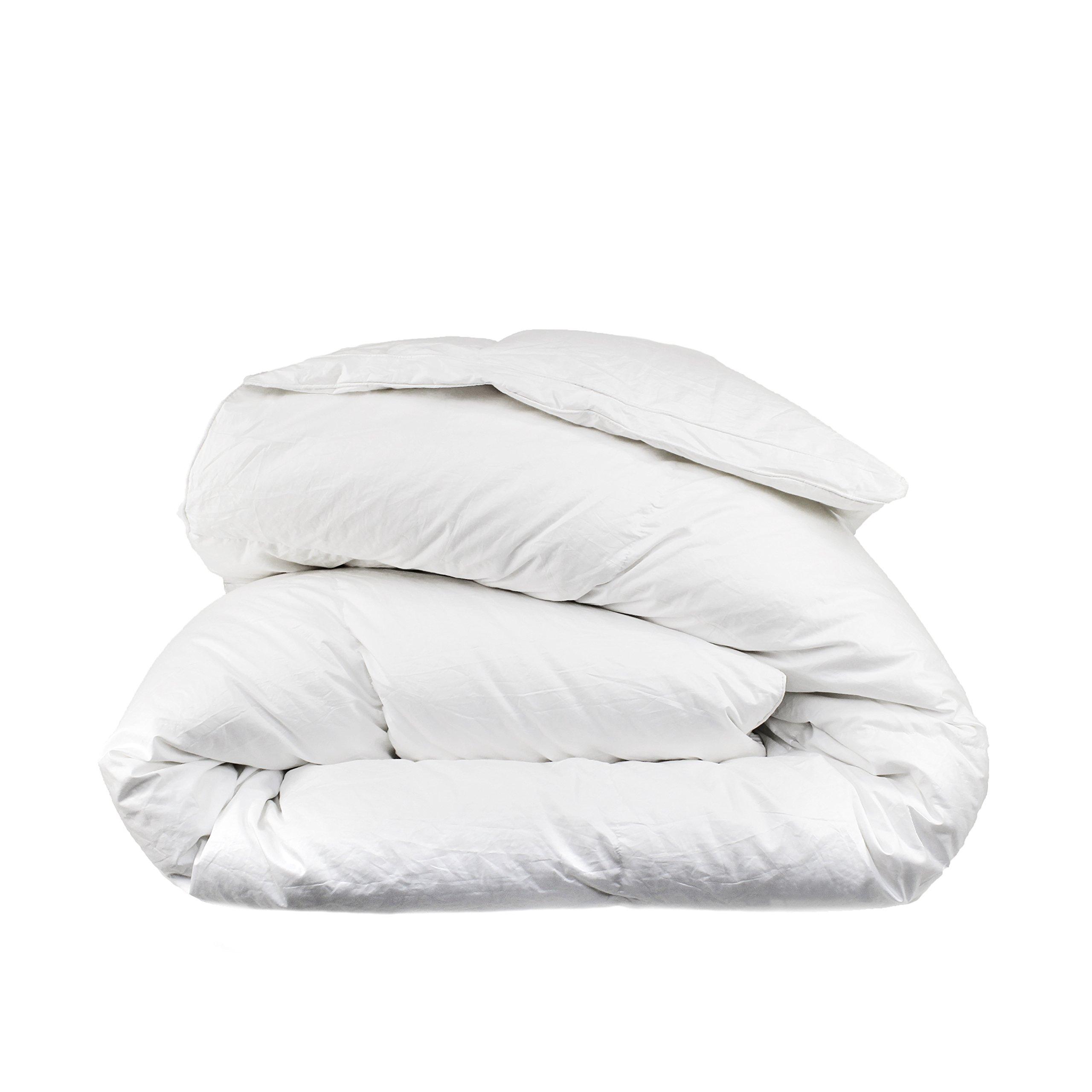Melange Home Down Comforter Goose 600 Fill Power 310tc, Full, White