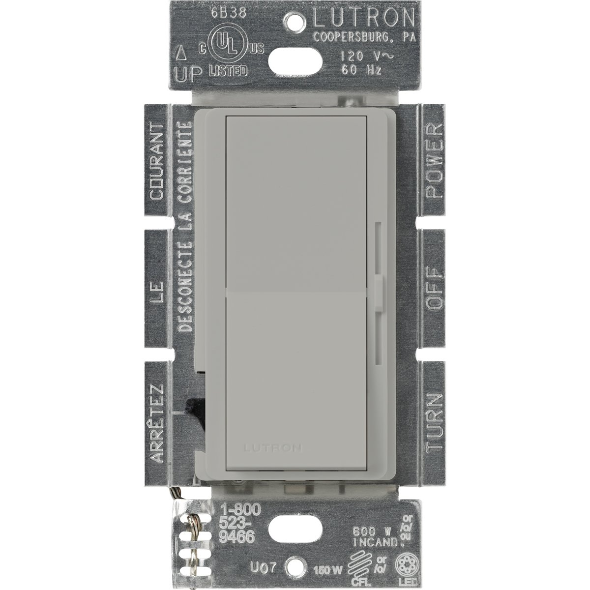 71OZ%2BG ju6L._SL1200_ lutron dvcl 153p gr diva dimmable cfl led dimmer, gray wall Lutron DVELV-300P at creativeand.co