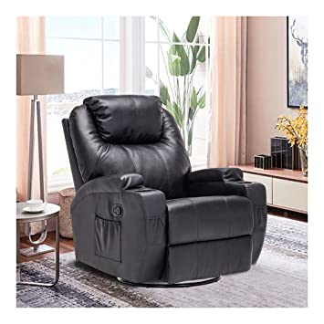 Massage Recliner Chair Leather Ergonomic Heated Lounge Sofa