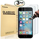 """[3 Pack] iPhone 6 6S Screen protector, Emmabin 0.26mm 9H Tempered Shatterproof Glass Screen Protector Anti-Shatter Film for iPhone 6 6S 4.7"""" inch [3D Touch Compatible]"""