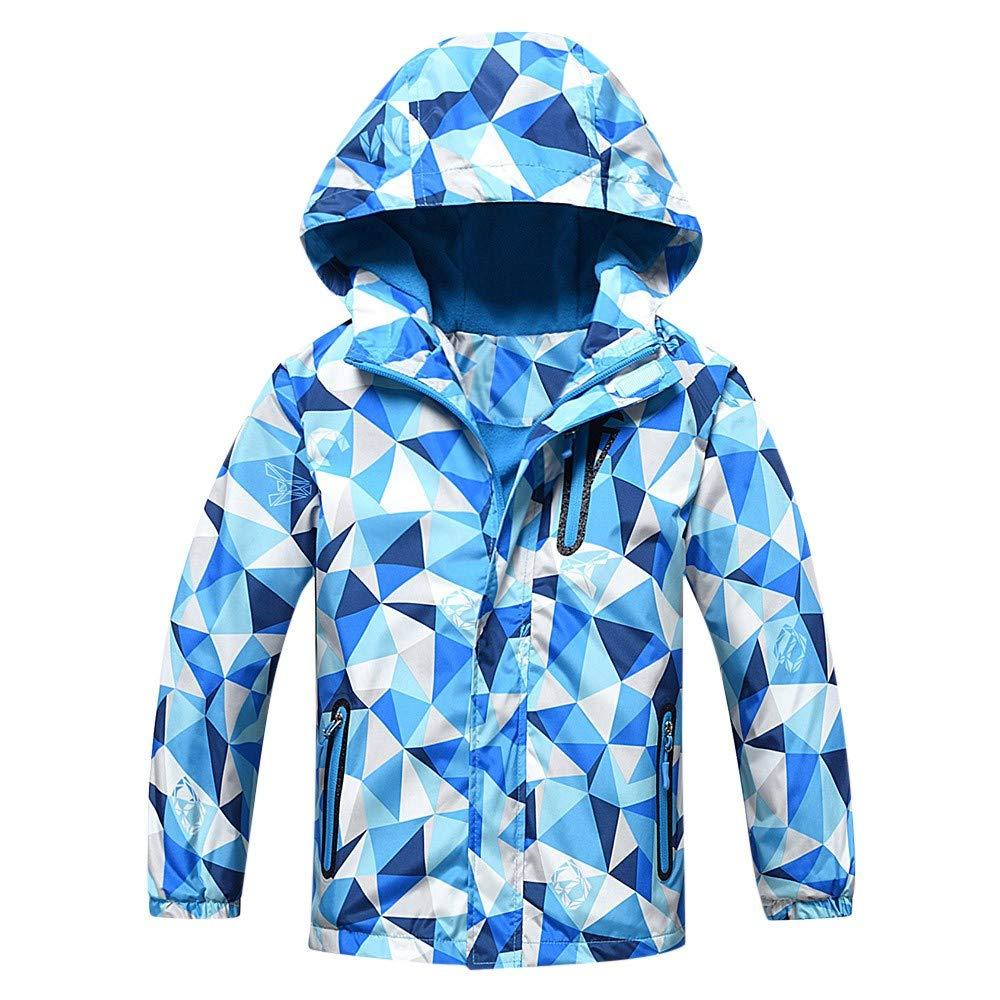Fartido Children Clothes Kids Outwear Outdoor Waterproof Hoodie Coat