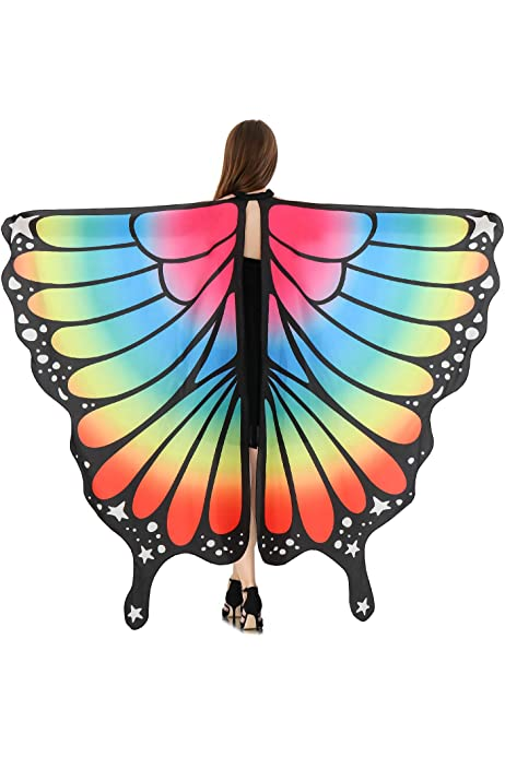 Fantastic Butterfly Wing Shawl Fairy Costume Party Photo Wedding Clothing Colors