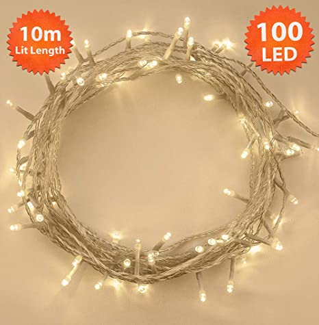 20 40 100 200 Clear Fairy Christmas Lights Indoor Outdoor Xmas Decorations