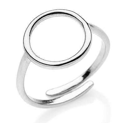 Ring Kreis aus Draht silber 925: Amazon.de: Schmuck