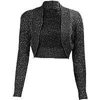 Momo&Ayat Fashions Ladies Girls Lurex Metallic Ribbed Collar Cropped Shrug AUS Size 8-26