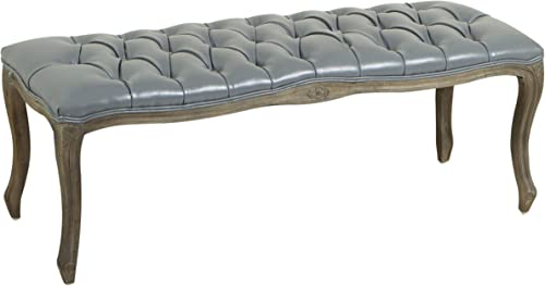 Christopher Knight Home Tassia Tufted Leather Bench