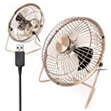 "Twitfish Vintage Art Deco USB Desk Fan (6"")"