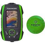 Ecoscandaglio elettronico da pesca portatile ecoscandaglio Sonar Senza fili telecamera trasduttore con a LCD colori Allarme Deeper profondità Finder,100m/328ft