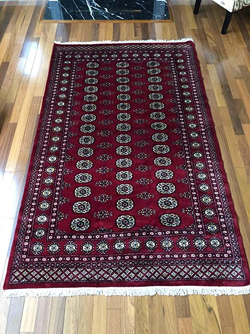 Amazon Com 8 3 X 6 1 Ft Red Hand Knotted Red Bokhara Rug