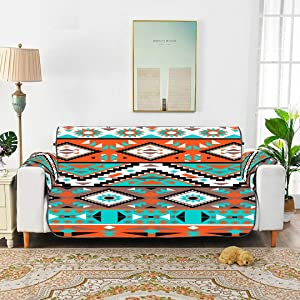 WUwuWU Ethnic Tribal Indian Navajo Geometric Pattern Sofa Seat Cover Sitting Chair Slipcover T Cushion Sofa Slipcovers for 45
