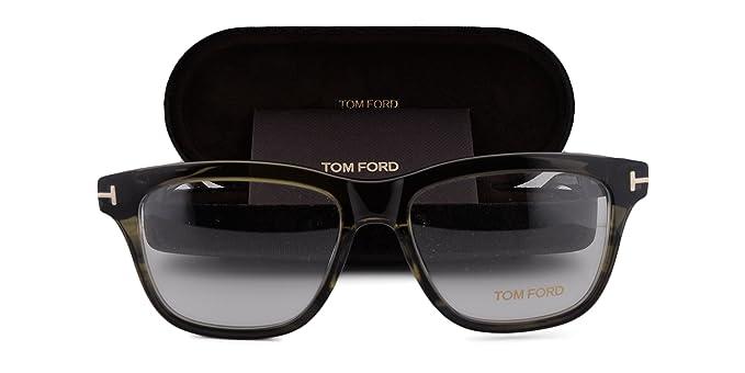 c77204feddf Amazon.com  Tom Ford FT5372 Eyeglasses 54-16-145 Dark Green Crystal ...