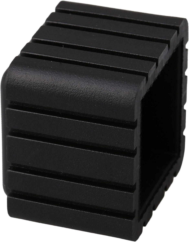 RDEXP 20 x 20 mm interior negro cuadrado muebles silla de mesa patas de goma protectores de suelo Cap Set de 20