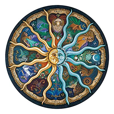 Twinsisi Jigsaw Puzzle 500 Piece for Adults-Mythic Celestial The Sun and Moon Constellation: Toys & Games