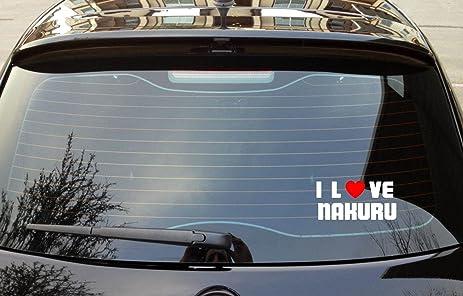 I love nakuru kenya vinyl decal bumper window sticker 8 x 3