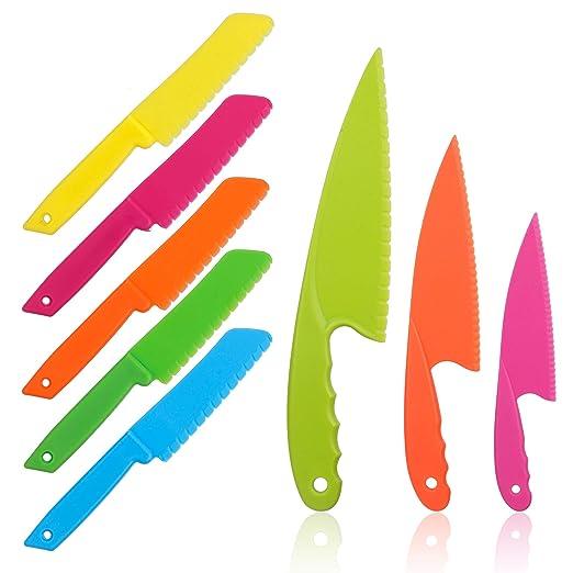 Juego de 8 cuchillos de cocina de plástico para niños ...