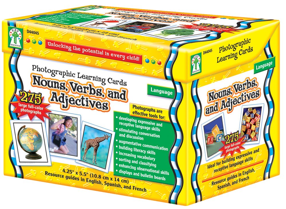 nouns verbs adjectives photo cards for teaching