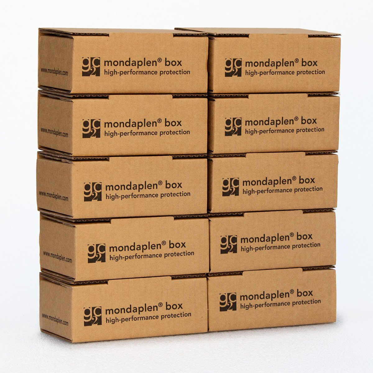 """a patented high-performance polyethylene foam to protect your delicate items 8.1/"""" x 5.2/"""" x 2.6/"""" Mondaplen Box: 10 pre-assembled boxes for shipping or storage D lined with Mondaplen 20,7cm x 13,2cm x 6,2cm"""