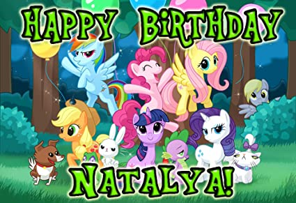 Image Unavailable Not Available For Color My Little Pony 1 4 Sheet Edible Photo Birthday Cake Topper Personalized