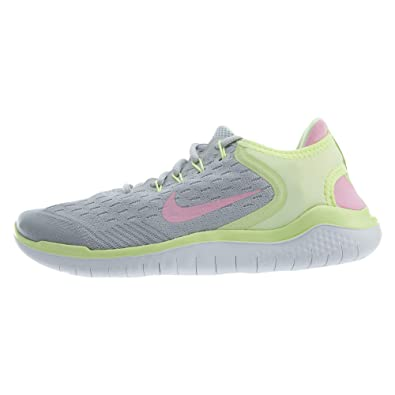 3dbca31562 Nike Girl's Free RN 2018 Running Shoe Pure Platinum/Pink Rise/Barely Volt  Size