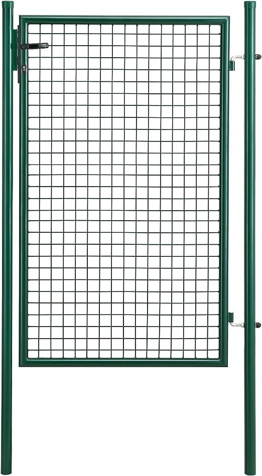 pro.tec] Puerta de jardín galvanizado (200x106) Verde - Incluye Cerradura y 3 Llaves - Puerta de Valla: Amazon.es: Jardín