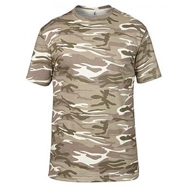 Anvil Men's T-shirt Heavy Camouflage Tee Shoulder-to-shoulder Tape Side Seam