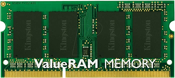 Kingston Technology KVR16LS11/4 4GB 1600MHz DDR3L PC3-12800 1.35V Non-ECC CL11 SODIMM Intel Laptop Memory