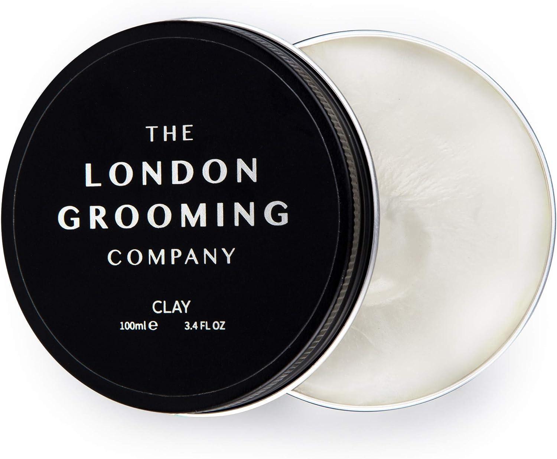 The London Grooming Company Arcilla para Hombres - Fijación Firmme y Acabado Mate Seco - 100 ml / 3,4 fl oz Producto de Cabello Basado en Agua - Aroma de Madera de Laúd Árabe