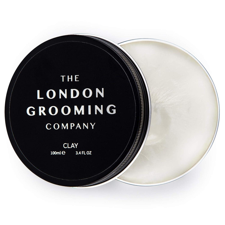 The London Grooming Company Arcilla para Hombres - Fijación Firmme y Acabado Mate Seco - 100 ml / 3,4 fl oz Producto de Cabello Basado en Agua - Aroma ...