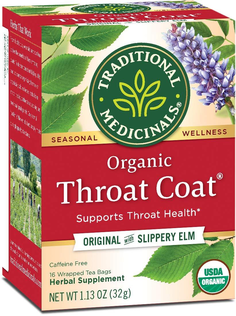 Traditional Medicinals Organic Throat Coat Seasonal Tea, 16 Tea Bags(Pack of 6) by Traditional Medicinals