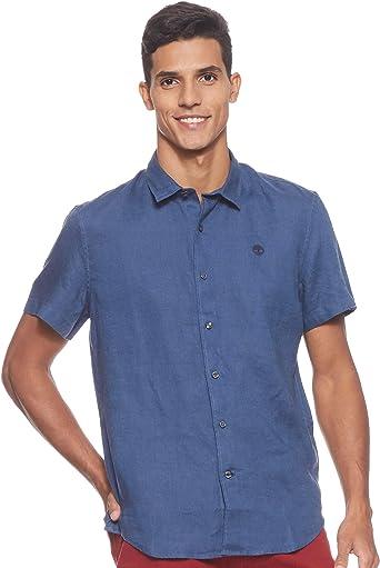 Timberland - Camisa de hombre M/M de lino River Miller: Amazon.es: Ropa y accesorios
