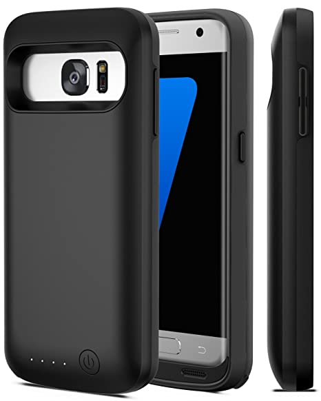 new product 40099 5b29a Galaxy S7 Battery Case, iPosible [5000mAh] External Battery Charger Case  for The Galaxy S7 Charging Power Battery Pack-Black [24 Month Warranty]
