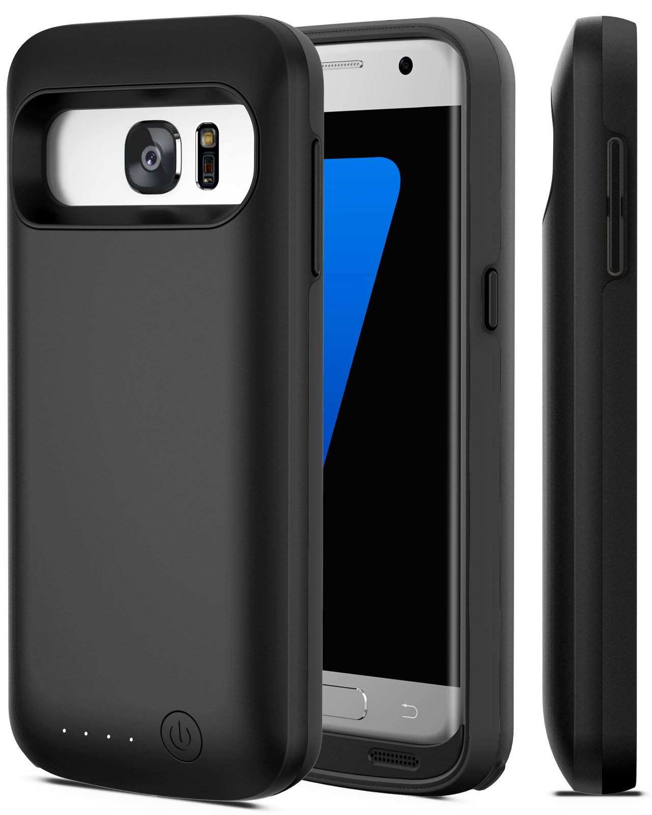 Galaxy S7 Battery Case, iPosible [5000mAh] External Battery Charger Case The Galaxy S7 Charging Power Battery Pack-Black [24 Month Warranty]