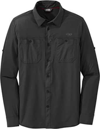 Outdoor Research Men's Wayward L/S Shirt, Sand, Small