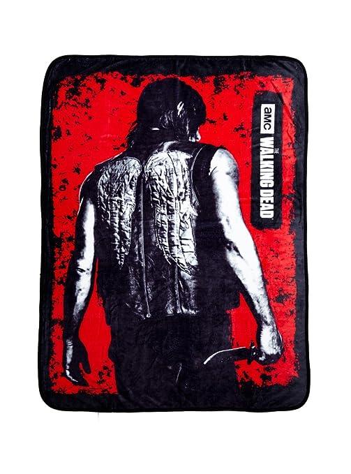 Walking Dead Throw Blankets Interesting Amazon The Walking Dead Daryl Fleece Throw Blanket Kitchen
