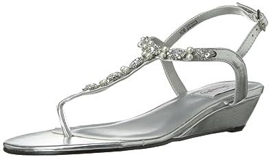 Dyeables Women's Myra Manmade Dress Sandal,Silver Metallic,6 ...