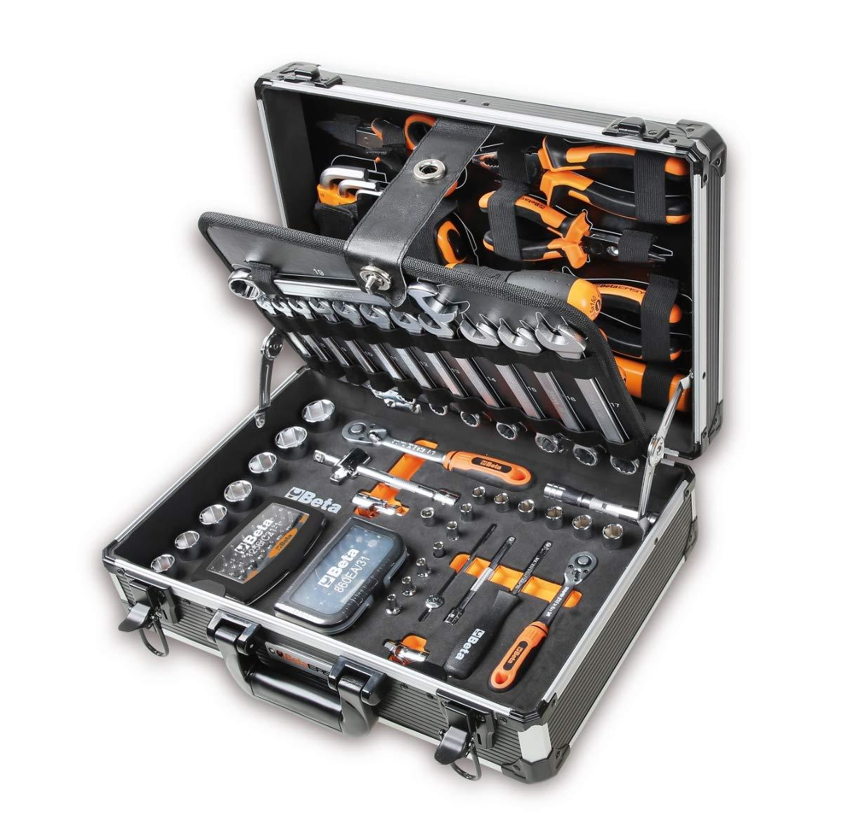 Malet/ín con juego de 128 herramientas para el mantenimiento general Beta 2054E//I-128