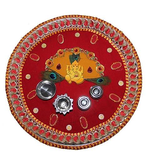 Decorative handmade stainless steel pooja thali traditional decorative handmade stainless steel pooja thali traditional decorative ganesh design pooja aarti thalidiwali junglespirit Gallery