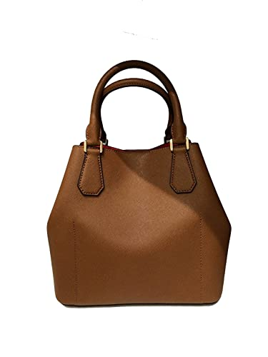 9a51b9b7ee Michael Kors Greenwich Large Saffiano Leather Grab Bag in Luggage Brown    Sienna