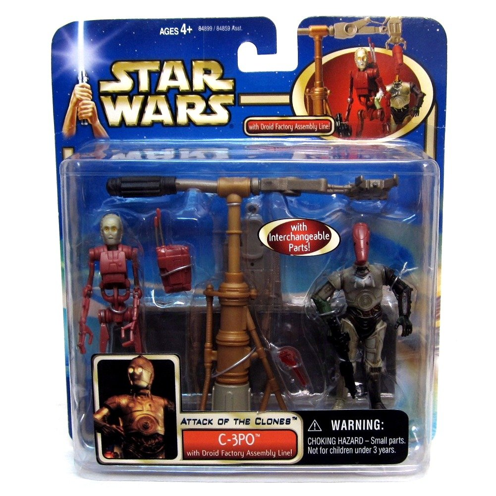 Star Wars Attack of the Clones C-3Po with Droid Factor Assembly Line Hasbro 1002694