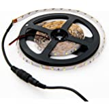 3528 Warm White LED Light Strip - 300 LEDs, 3000K, 72 Lumens & 1.3 Watts per Foot, 12V DC, Adhesive Backed - for Kitchens, Cabinets, Displays, Bedrooms, Crown Molding & More
