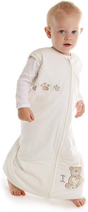 beige 12-18 mois Slumbersac Gigoteuse d/ét/é en bambou avec pieds env 1 Tog Disponible en 4 tailles I Love Teddy