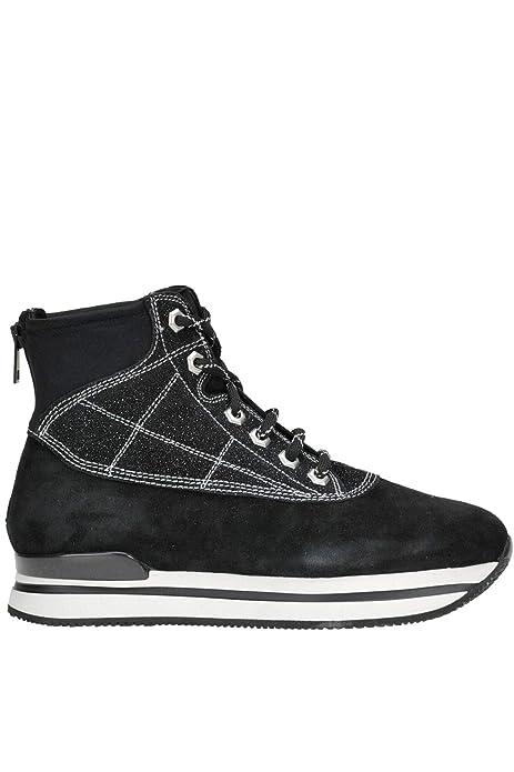 HOGAN EZGL028015 Mujer Negro Gamuza Botines: Amazon.es: Zapatos y complementos