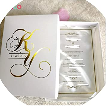 Amazon Com 30pcs Hot Sale Printing Clear Acrylic Card Wedding