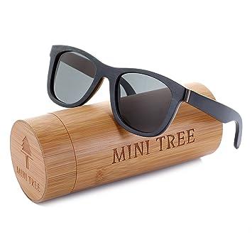 Amazon.com: Mini Tree - Gafas de sol de madera polarizadas ...