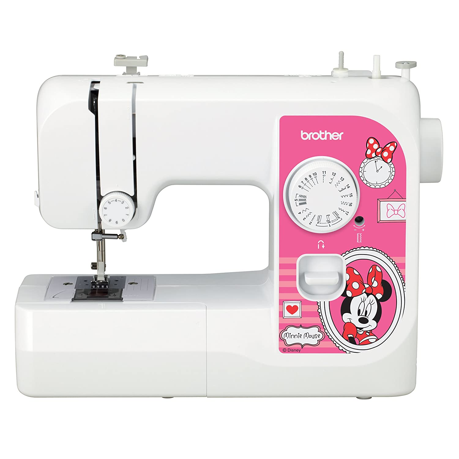 17 Built-in Stitches LED Work Area SM1738D Sewing Machine with 4 Disney Faceplates Disney Dust Cover 4 Sewing Feet Brother Sewing Machine