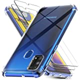 Cases for Samsung Galaxy M31 with 2 Pack Screen Protector, Clear Samsung Galaxy M31 Case Cover, Tempered Glass Film, for…
