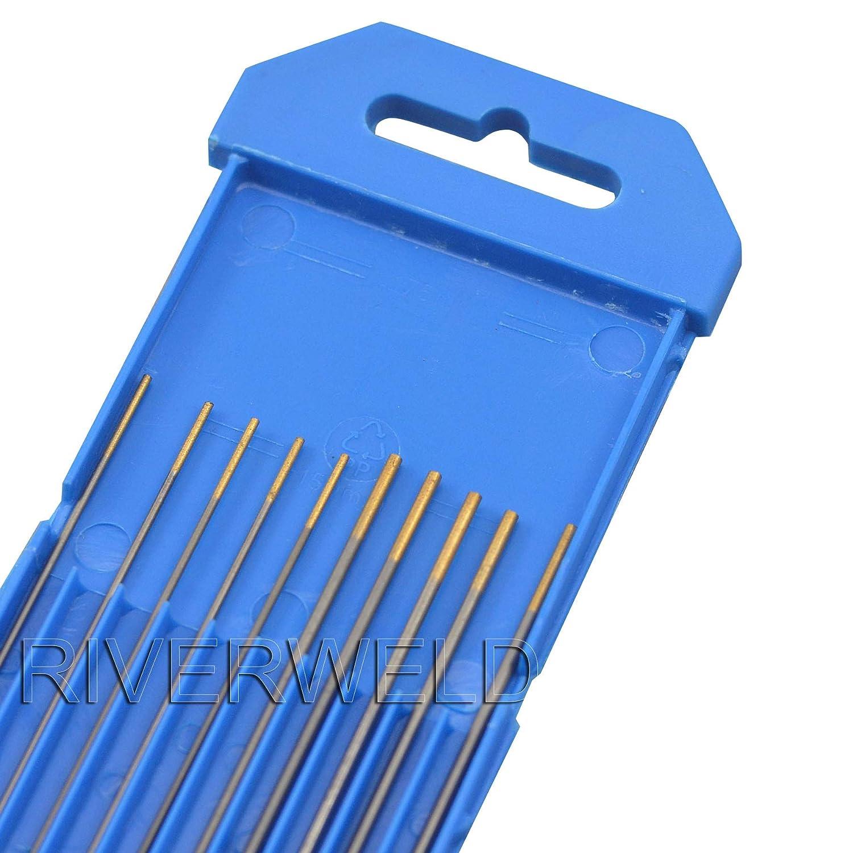 "1.5/% Lanthanated WL15 Gold TIG Welding Size 0.040/""x6/"" Tungsten Electrode 10Pcs"