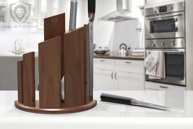 dalstrong- Dragon spire fronte-retro magnetico in noce legno block-  contiene 12PC Dalstrong 6d7da66fb643