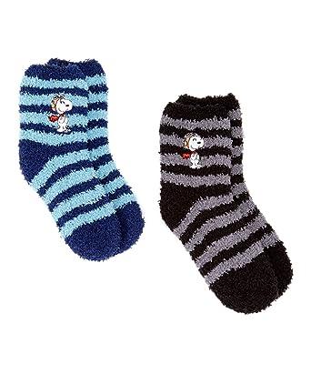 9398ff916c Amazon.com  Snoopy Socks Women s  Girl s Peanuts 2 pack Fuzzy ...