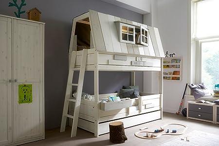 Etagenbett Haus : Leben u hangout holz haus mit etagenbett amazon küche haushalt